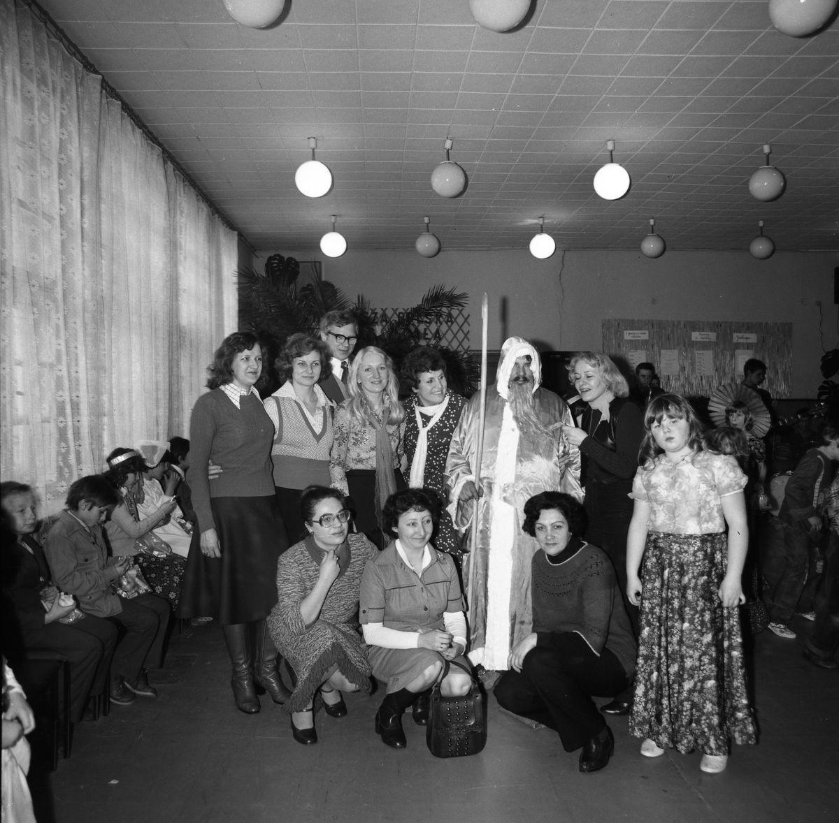 Święty Mikołaj w Szkole Podstawowej nr 1, 1979 r.