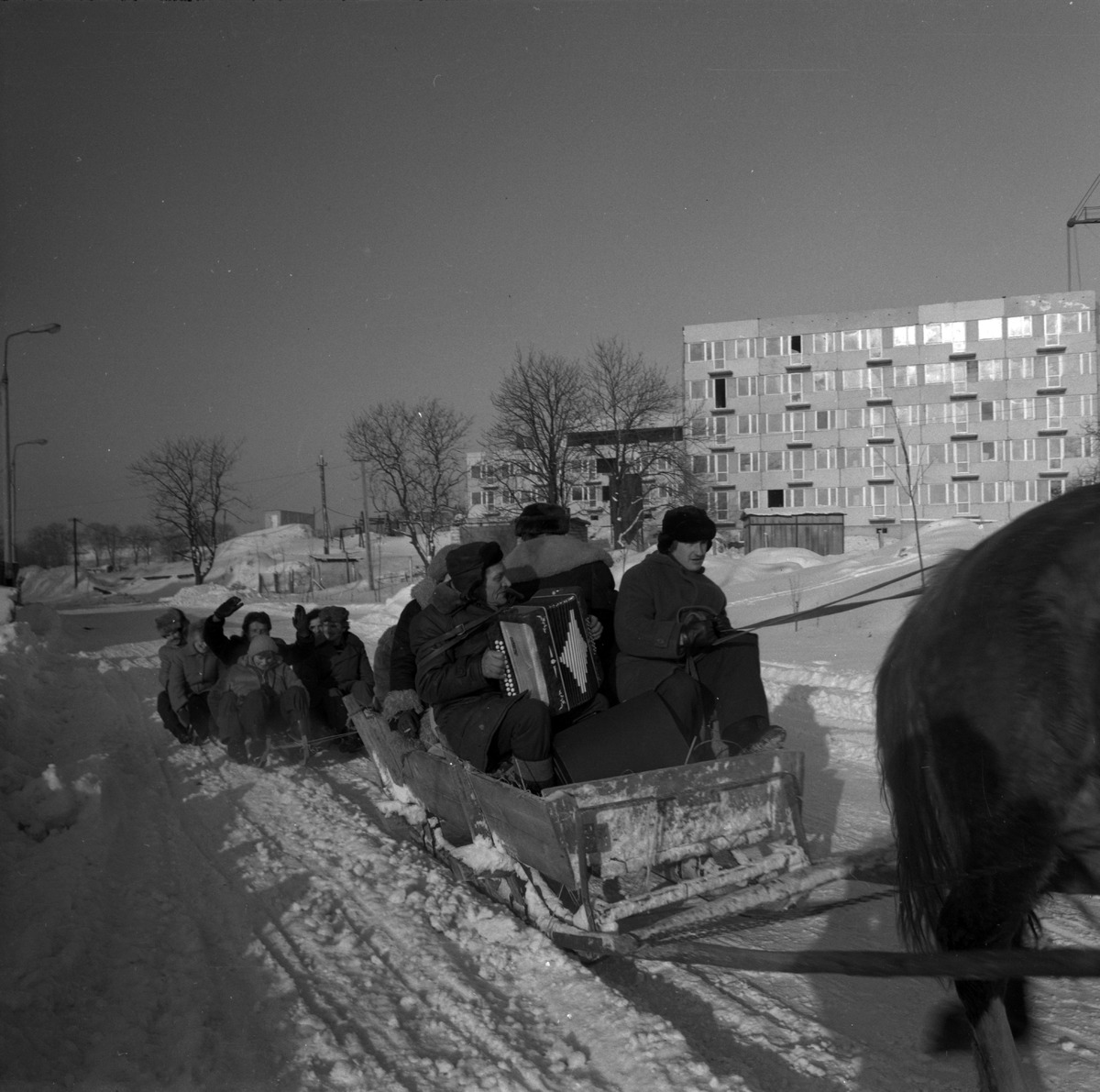 """Kulig pracowników Spółdzielni """"ZGODA"""", 1979 r."""