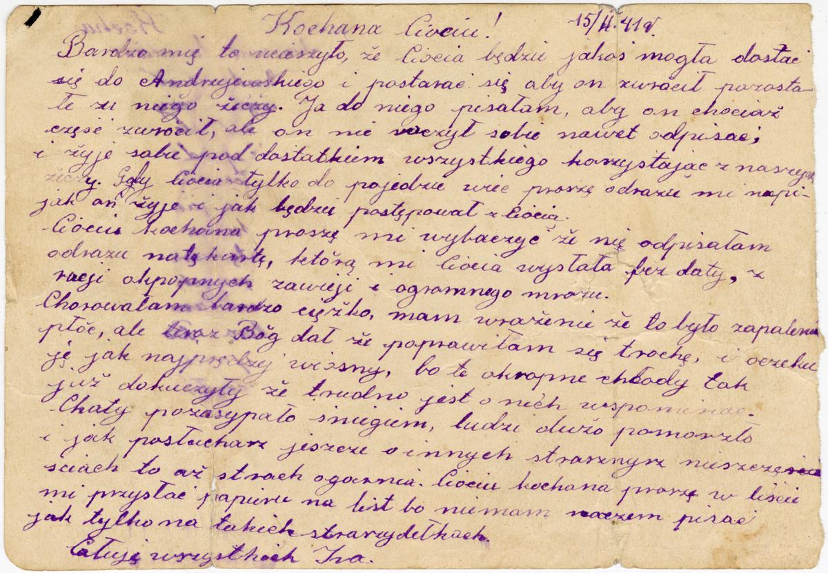 List z Syberii [1]