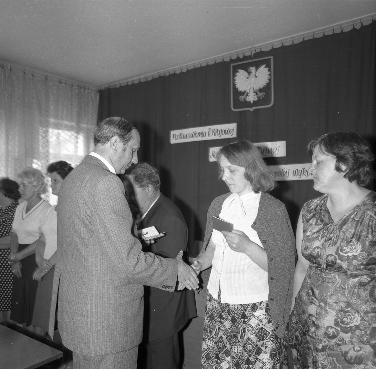 Wręczenie legitymacji partyjnej, 1978 r.
