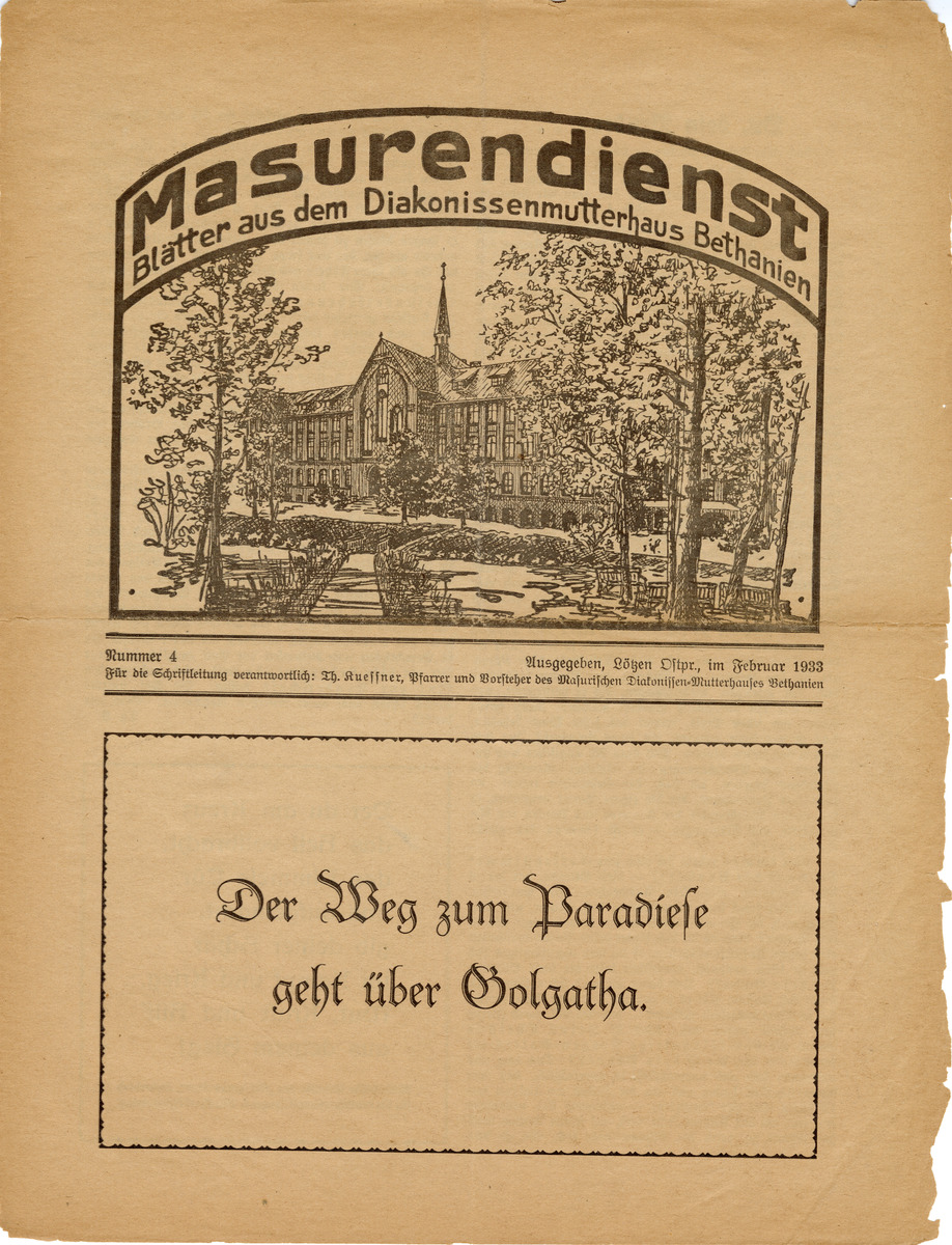 Masurendienst - Februar 1933