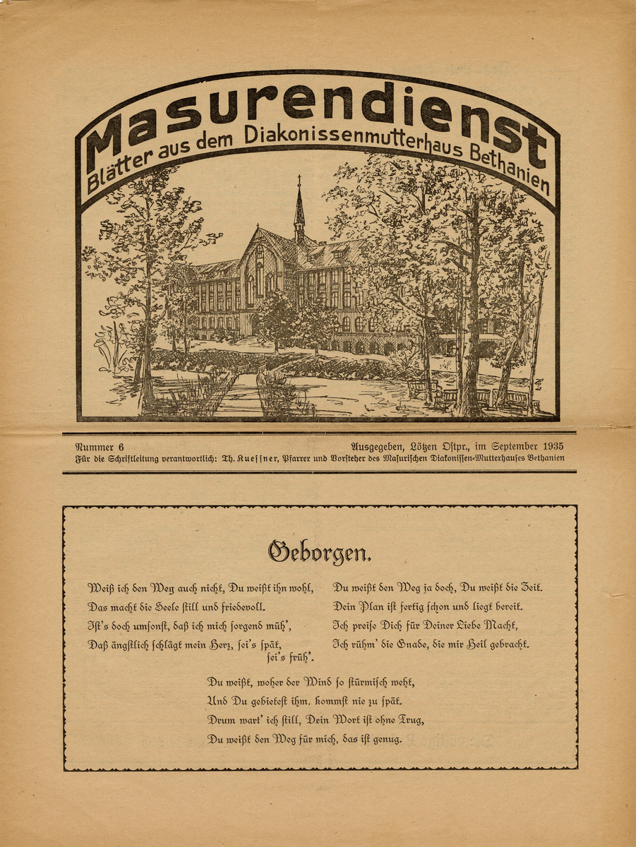 Masurendienst - September 1935