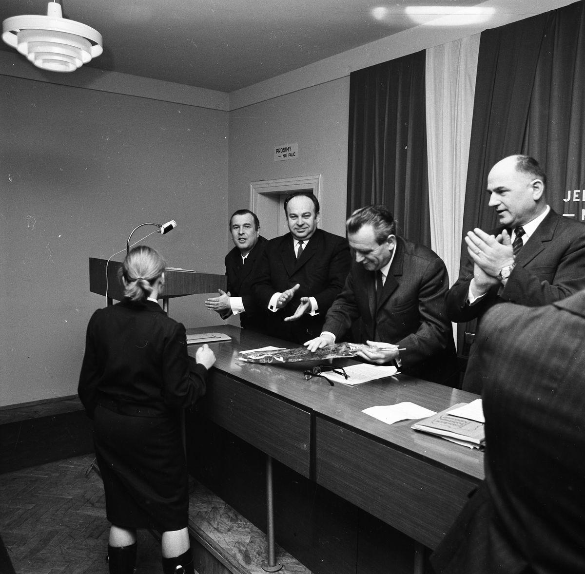 Spotkanie z kandydatami na posłów VI kadencji Sejmu PRL, 1977 r.