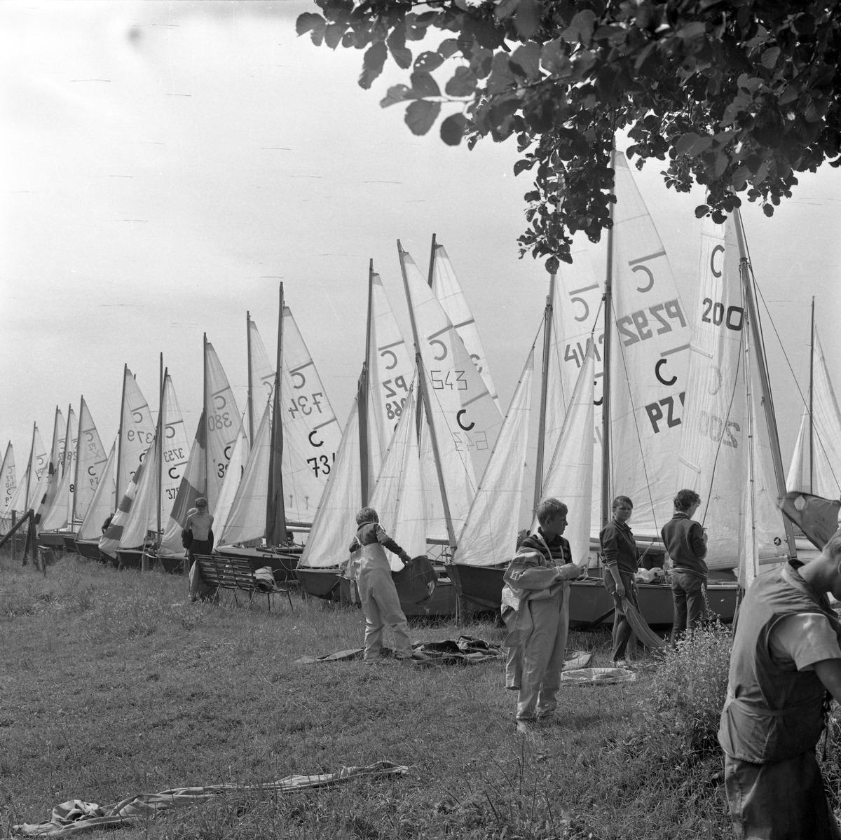 Żeglarskie Mistrzostwa Polski klasy Cadet 1970 r.