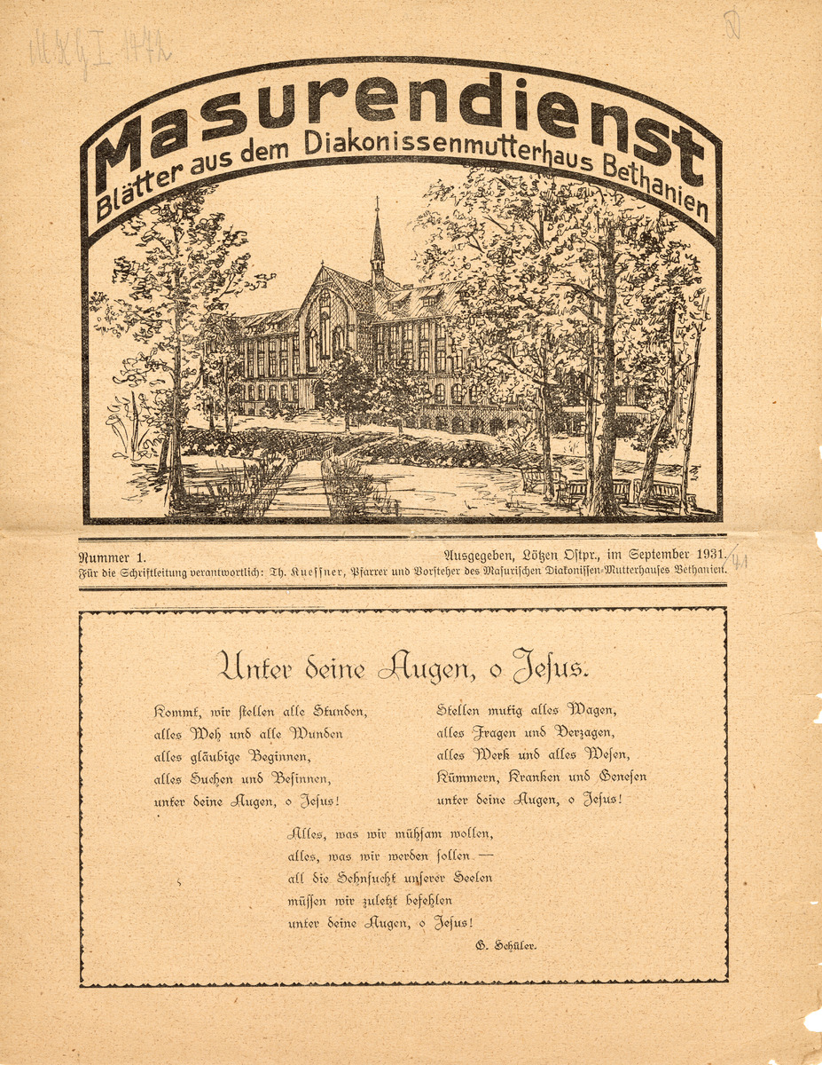 Masurendienst - September 1931