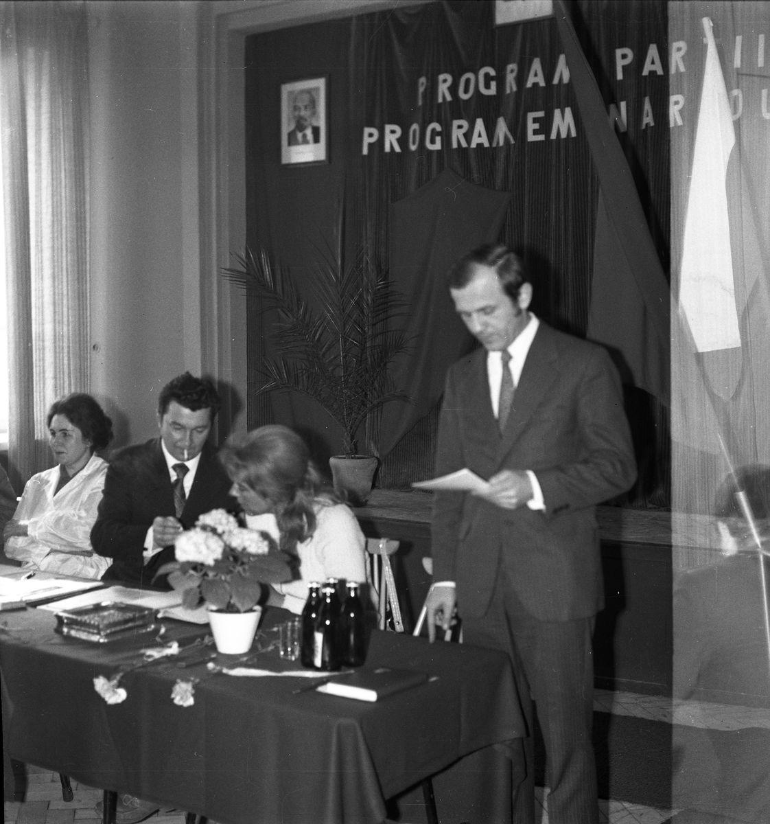 Zebranie partyjne PZPR w Zakładach Rybnych, 1975 r. [1]