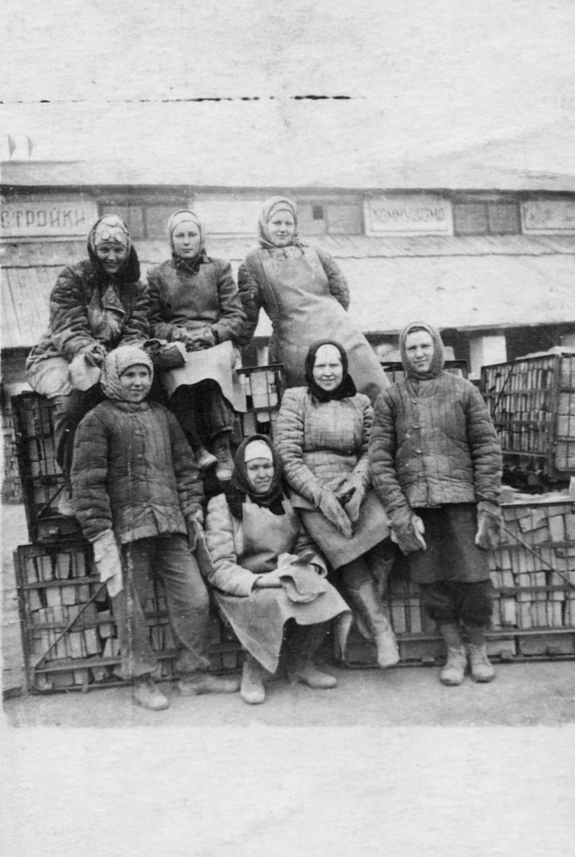 Pracownice cegielni w Krasnojarsku