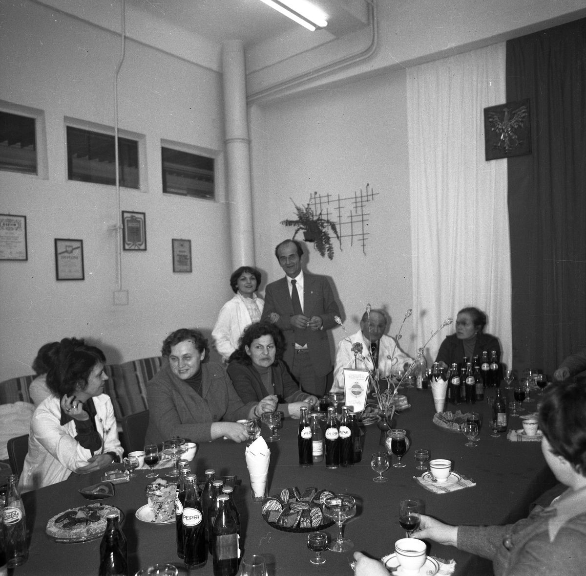 Delegacja radziecka w Wytwórni Pieczywa Cukierniczego, 1978 r.