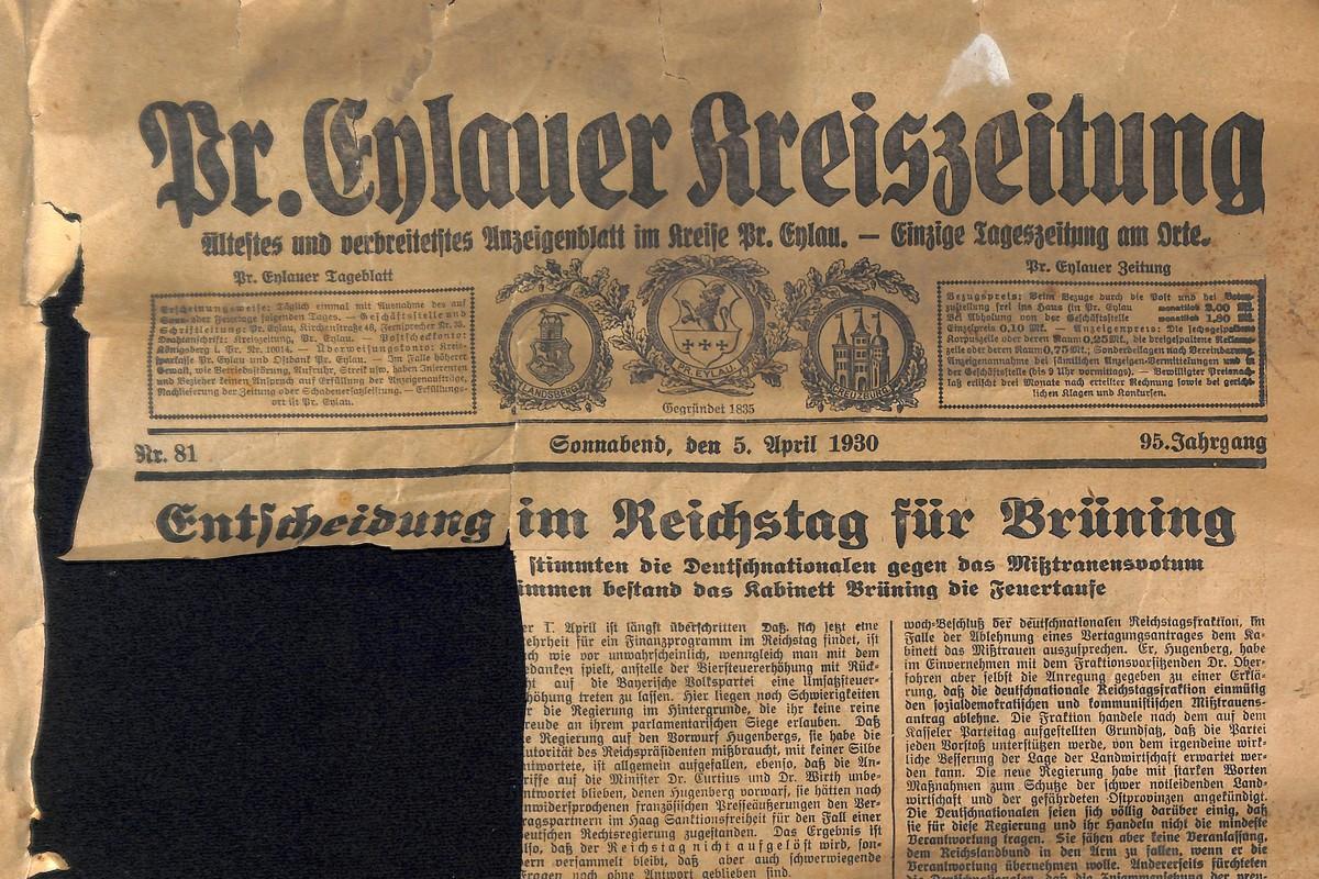 Preußisch Eylauer Kreisblatt