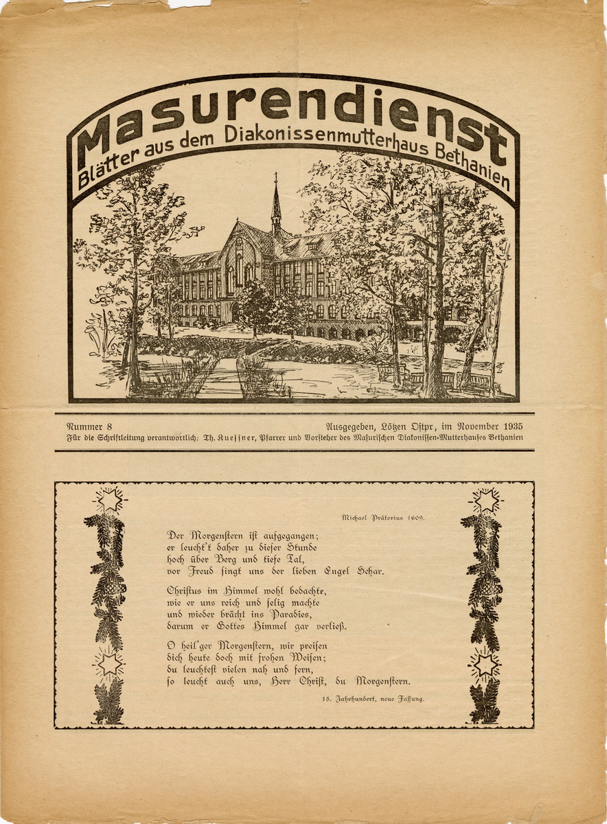 Masurendienst - November 1935