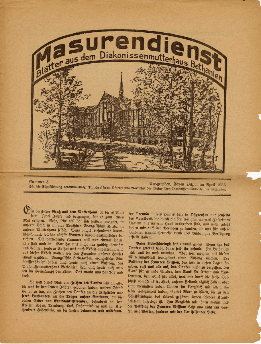 Masurendienst - April 1935