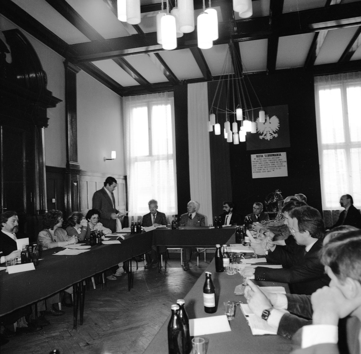 Uroczysta sesja Rady Miejskiej, 1990 r. [4]