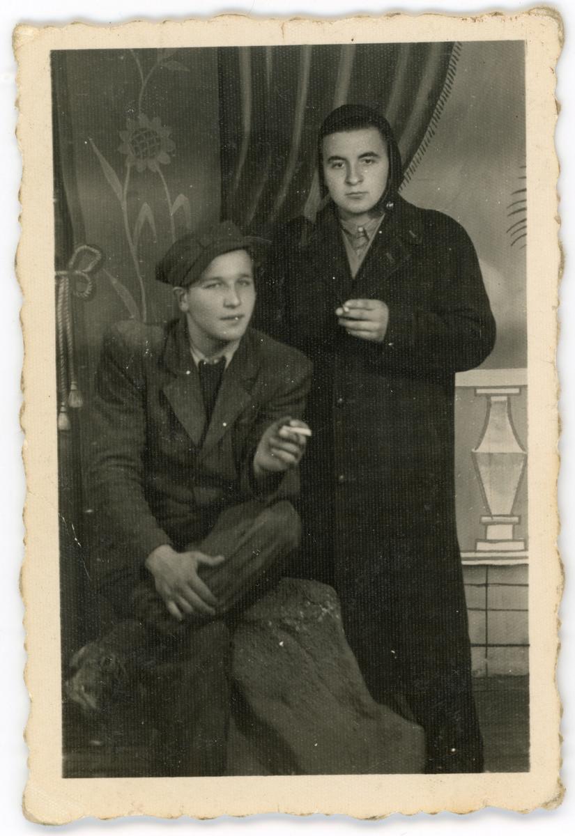 Marian Jarosz z kolegą