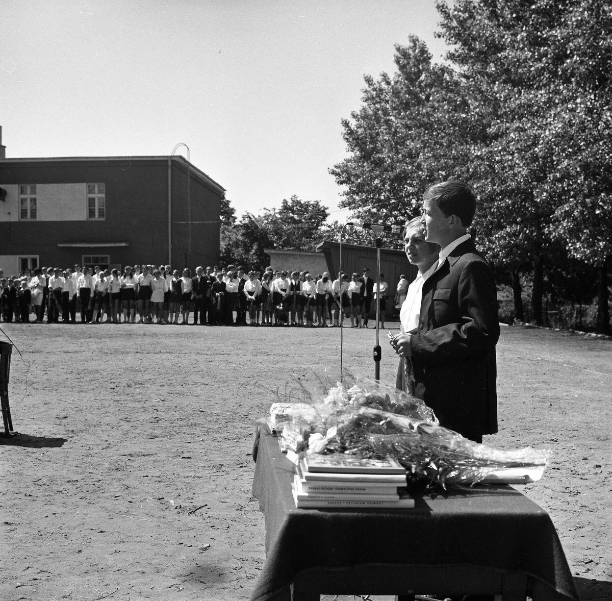 Zakończenie roku szkolnego 1969/1970 w SP1