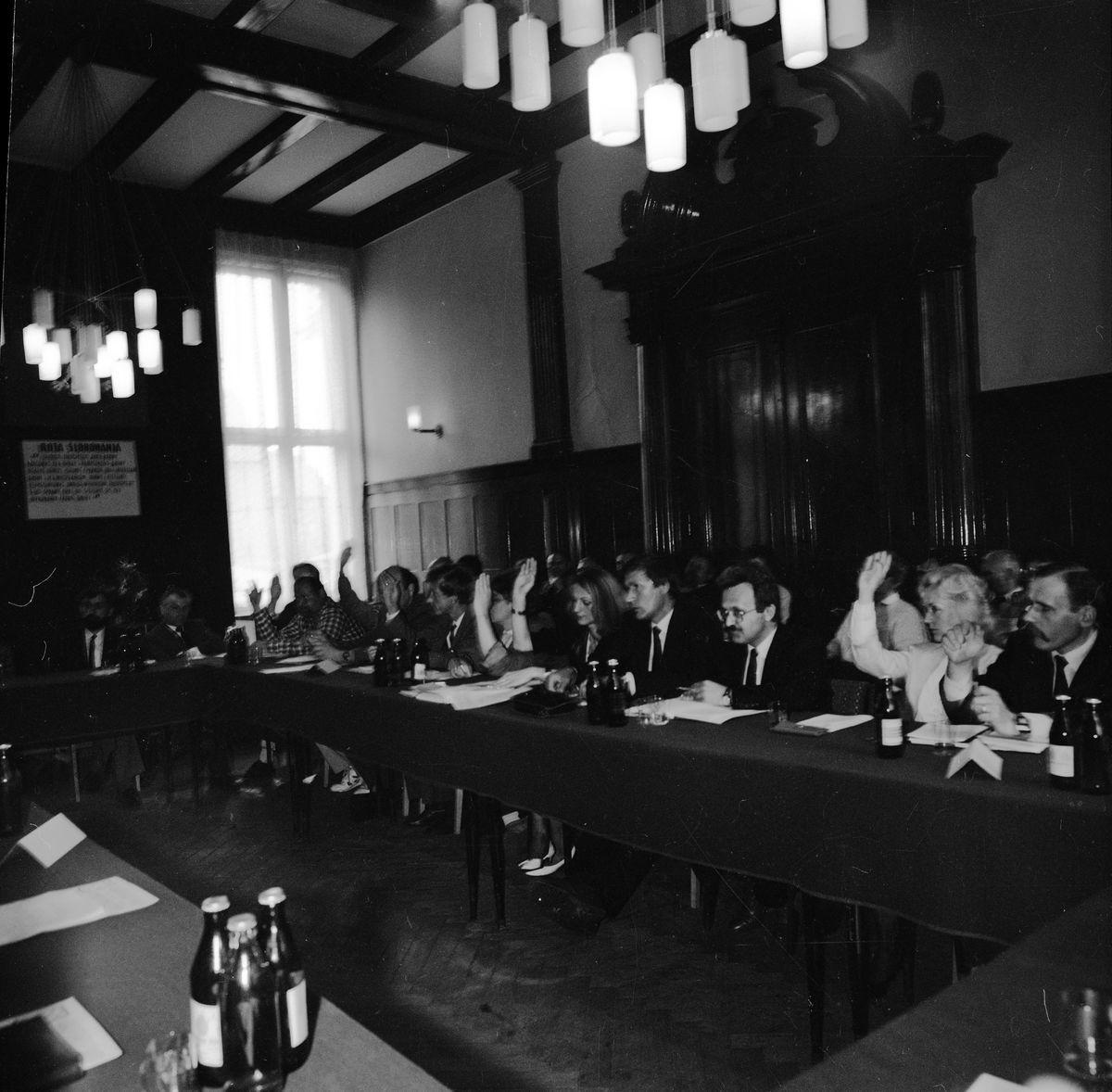 Sesja Rady Miejskiej, 1990 r.