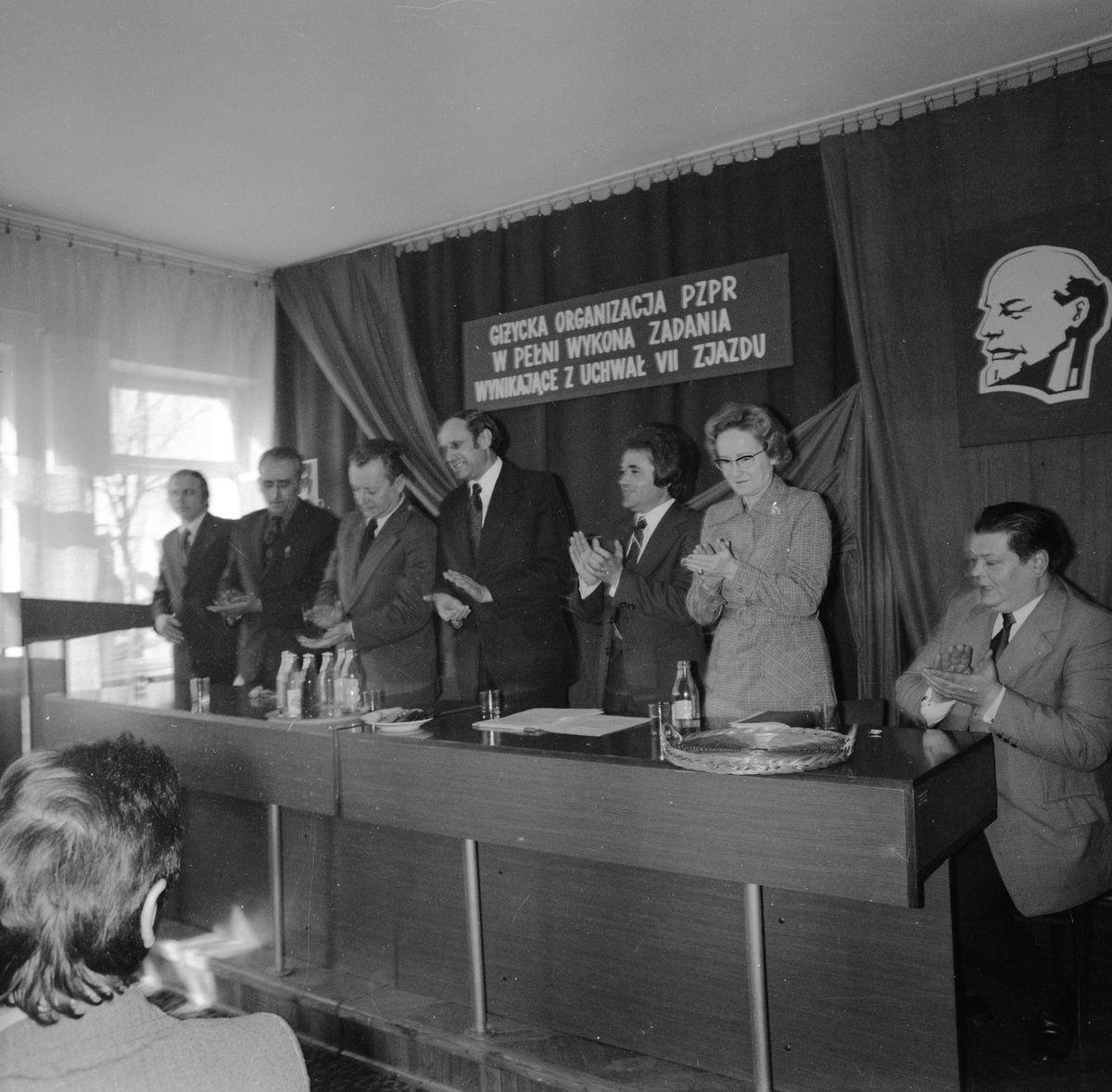 Spotkanie przed VII plenum partii, 1971 r.