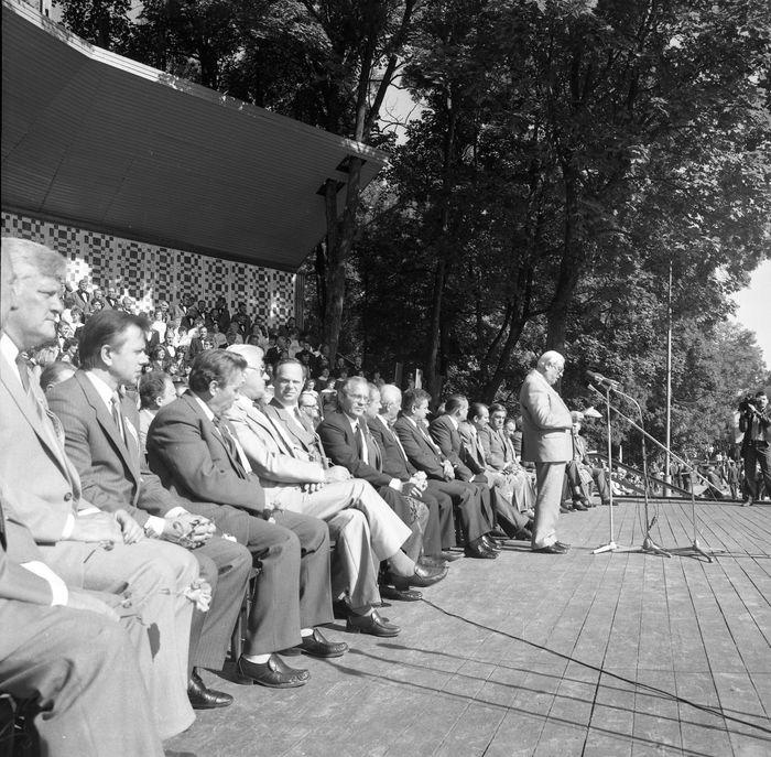 Wizyta delegacji z Giżycka w Trokach, 1987 r. [51]
