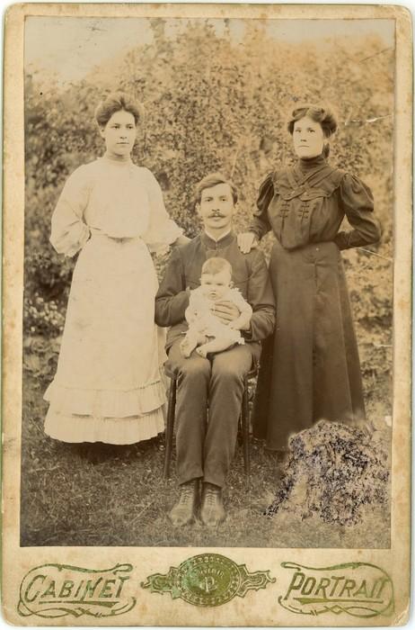 Aleksander Falkowski z żoną Stefanią i córką Janiną. Białystok, przełom XIX/XX w.