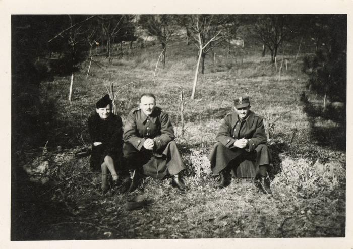 Maria Cichosz podczas internowania na Węgrzech [16]