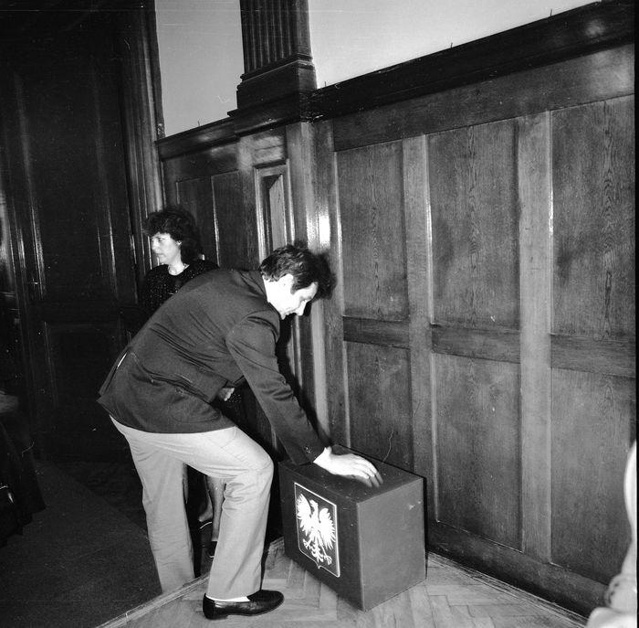 Uroczysta sesja Rady Miejskiej, 1990 r. [9]