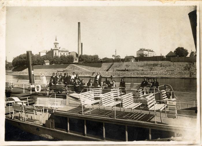 Statek wycieczkowy w Wilnie, 1936 r.