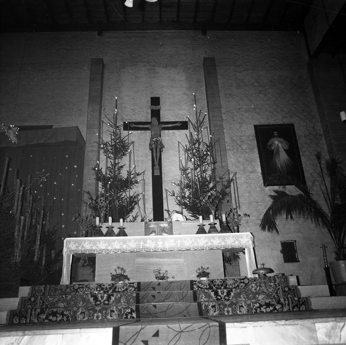 Ołtarz w kościele św. Brunona, 1970 r.
