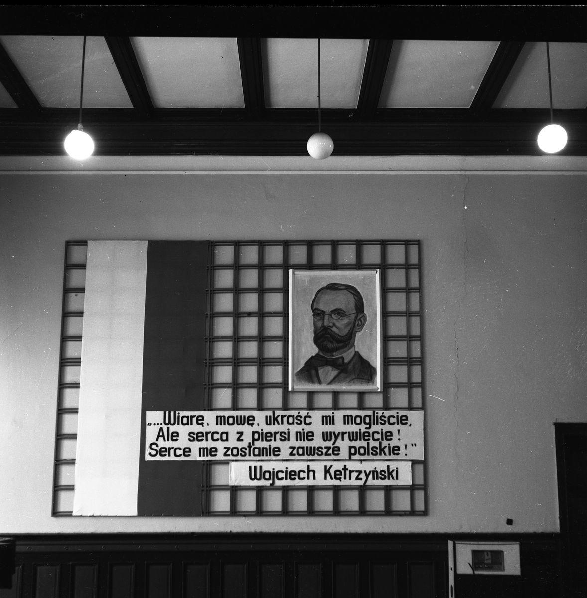 Dekoracja auli, marzec 1968 r.