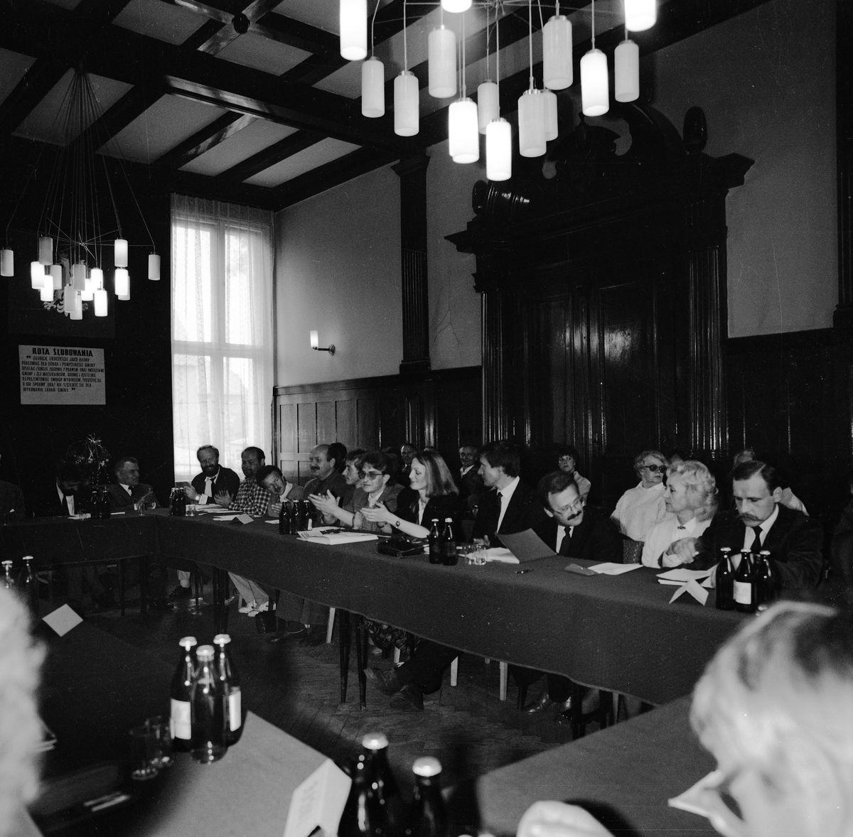 Uroczysta sesja Rady Miejskiej, 1990 r. [2]
