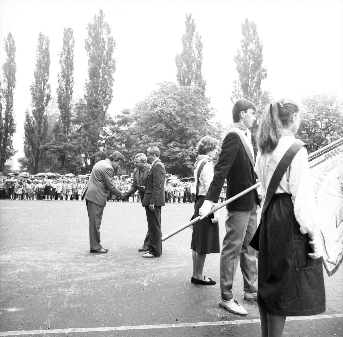 Zakończenie roku szkolnego 1985/1986 w SP1