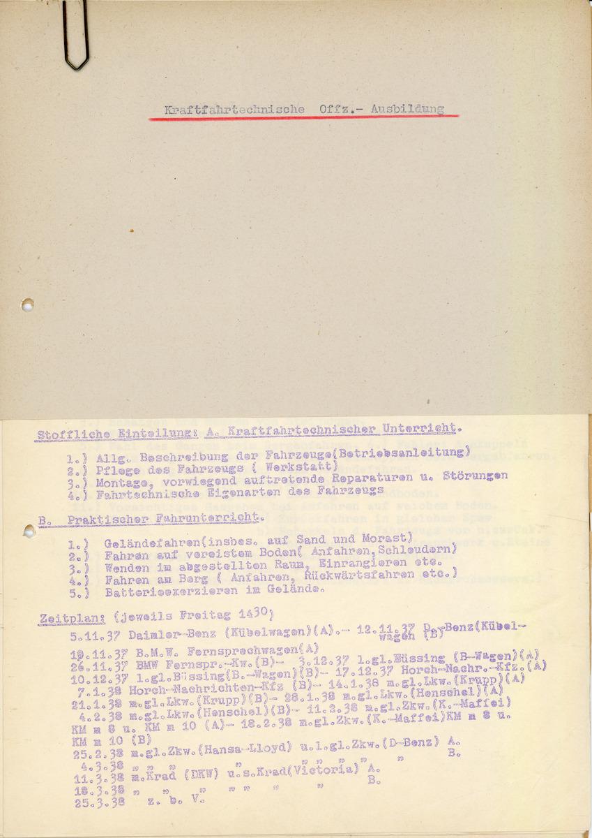 Kraftfahrtechnische Offz.-Ausbildung