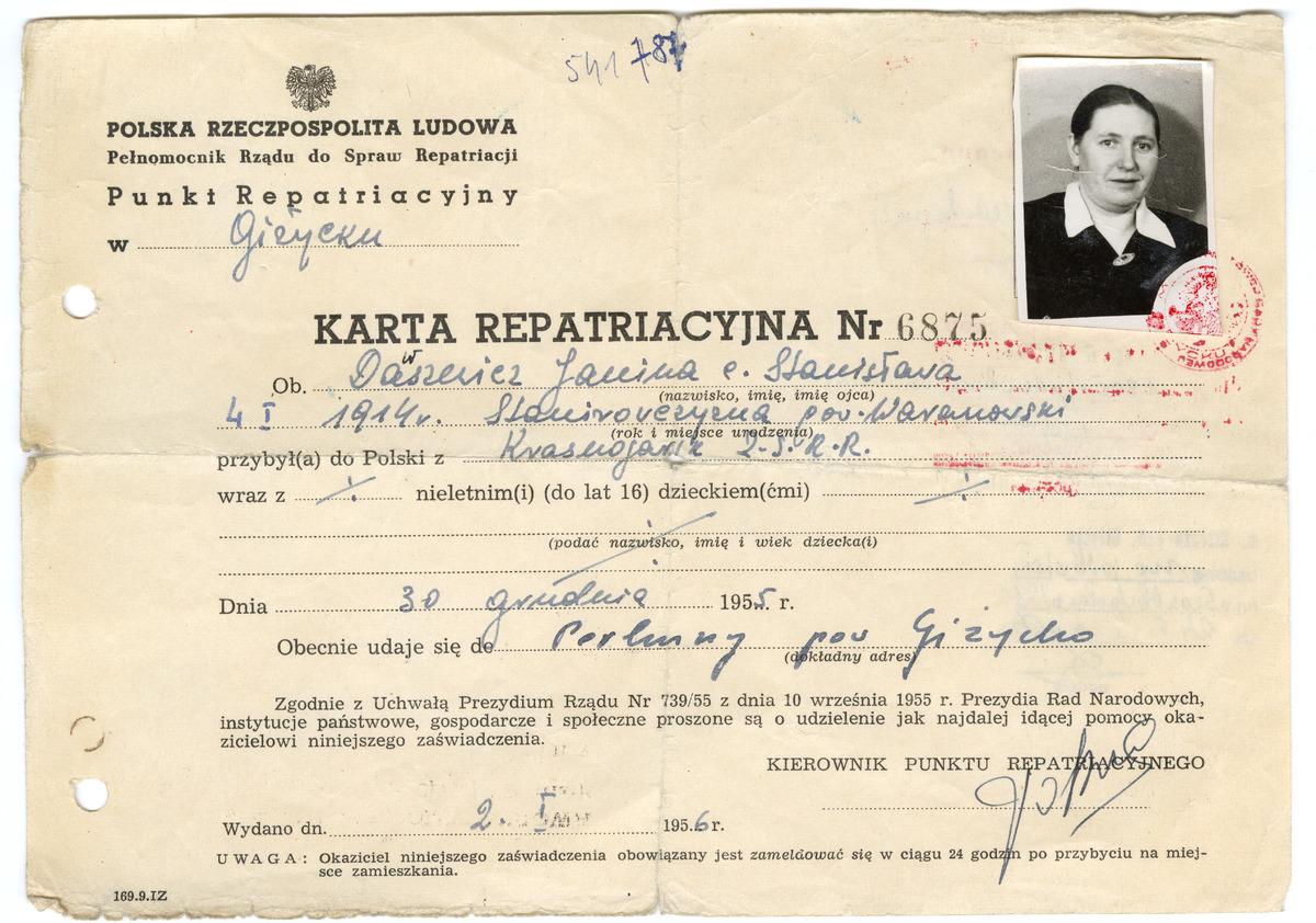 Karta repatrianta