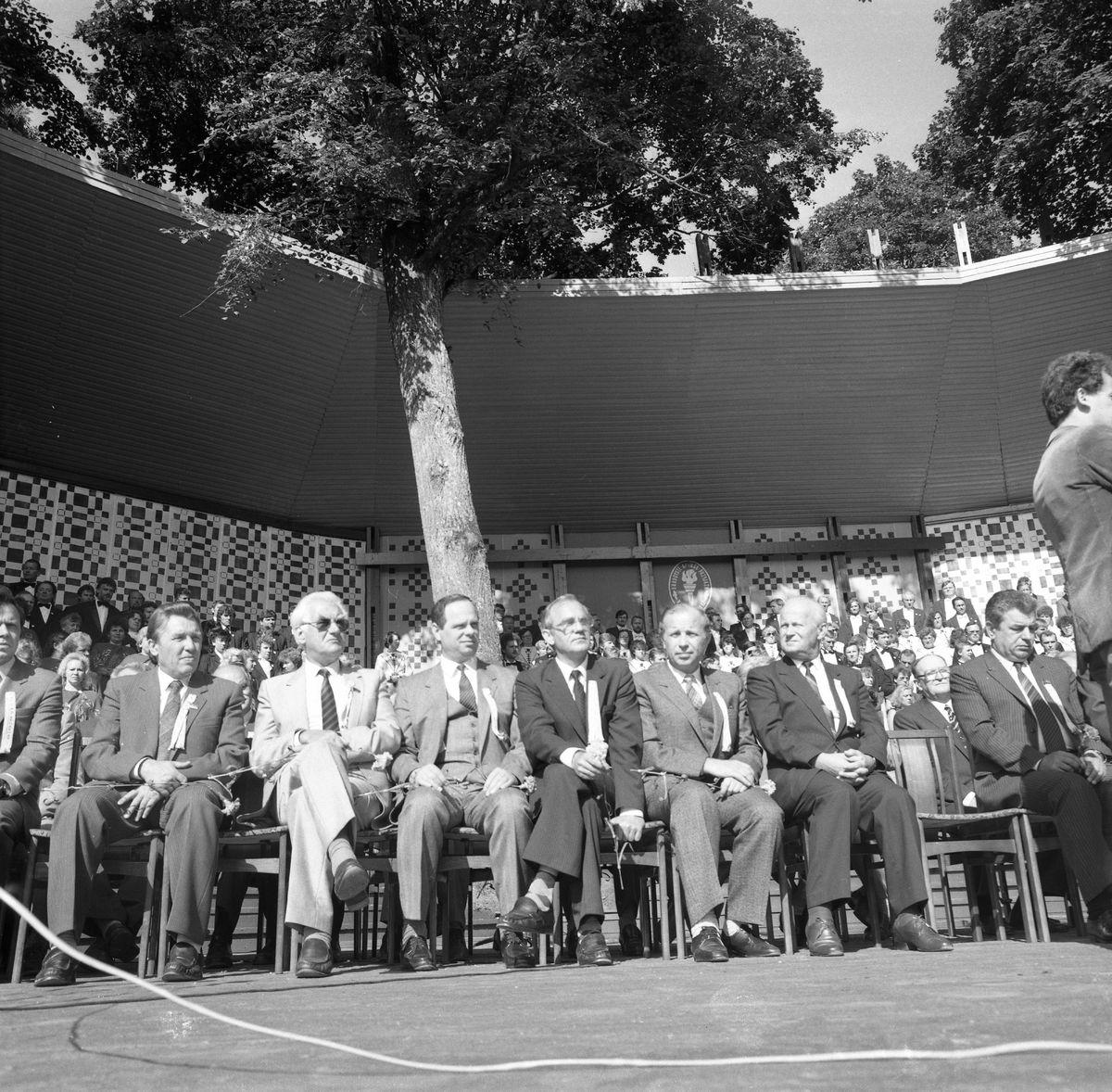 Wizyta delegacji z Giżycka w Trokach, 1987 r. [7]