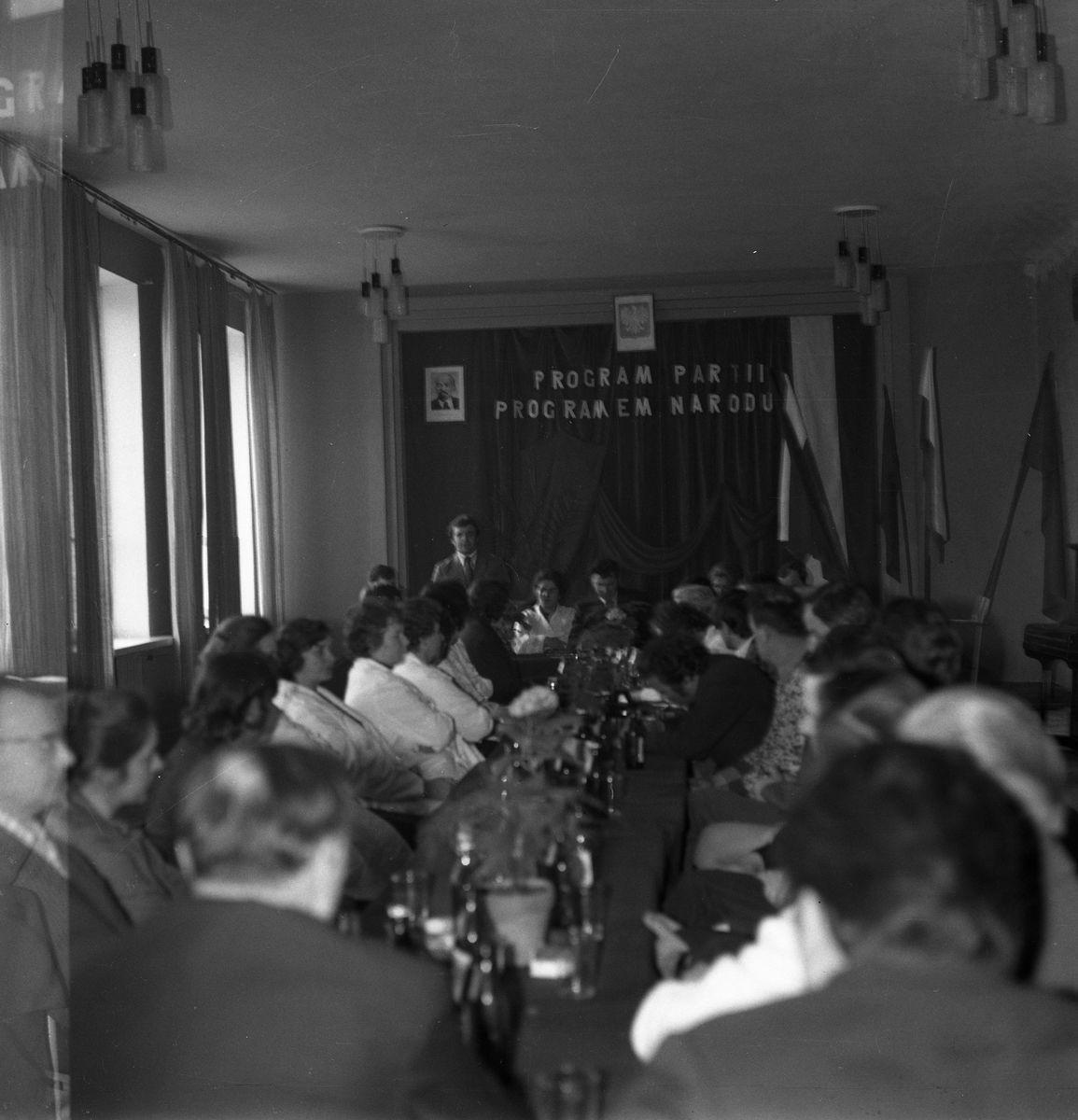 Zebranie partyjne PZPR, 1975 r.
