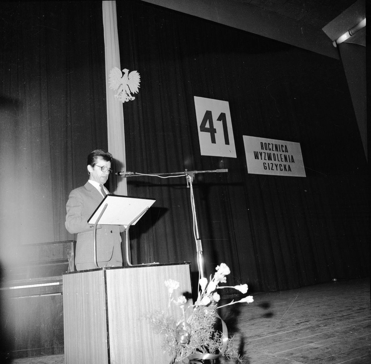 41. rocznica wyzwolenia Giżycka, 1986 r.