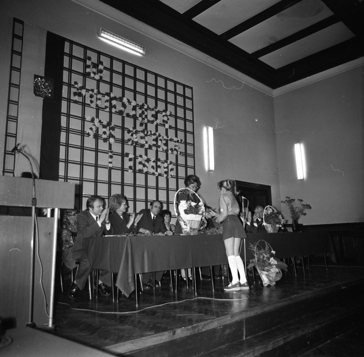 Dzień nauczyciela w Liceum Ogólnokształcącym, 1970 r.