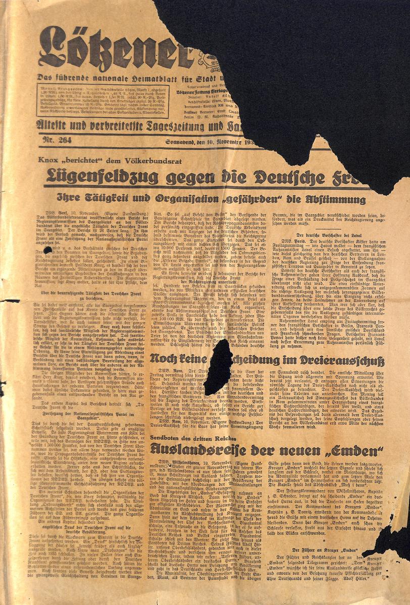 Lötzener Zeitung  - November 193?