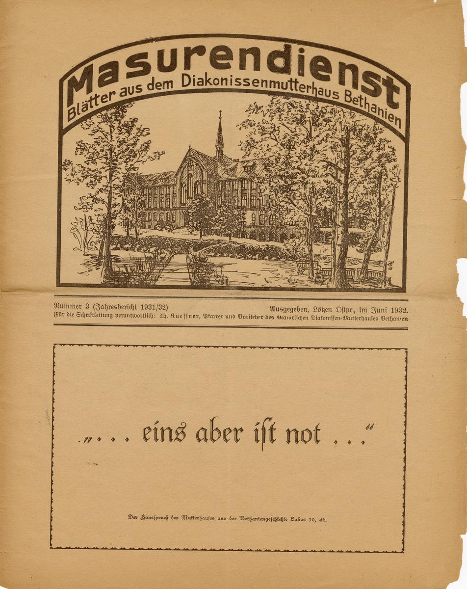 Masurendienst - Juni 1932