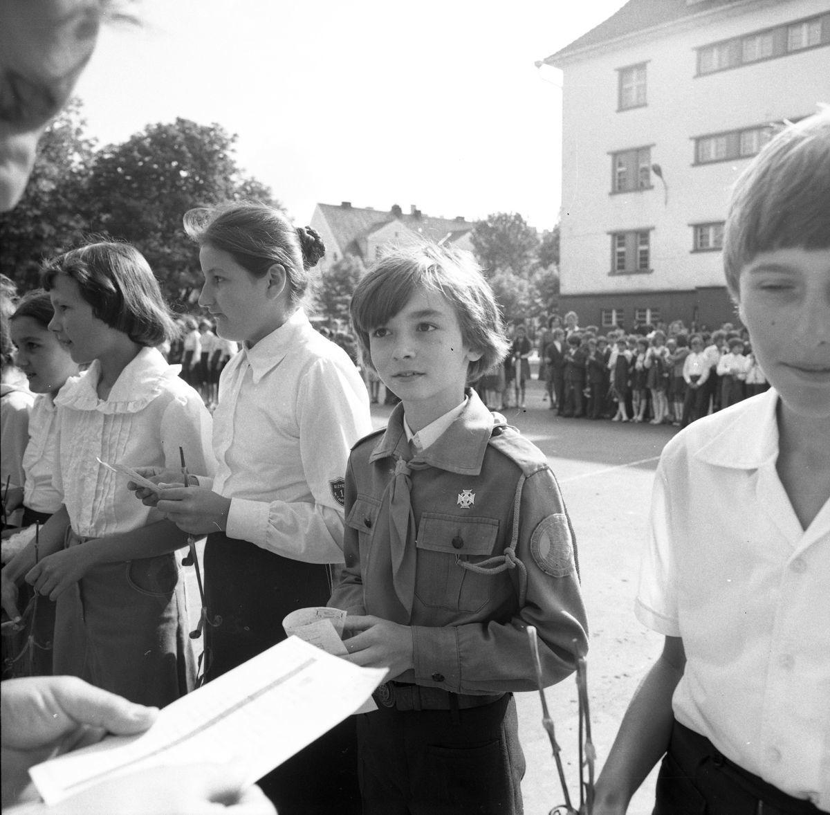 Zakończenie roku szkolnego 1977/1978 w SP1