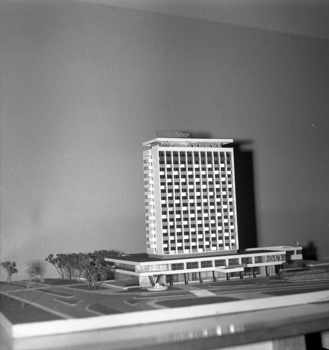 Makieta hotelu Mazury w Giżycku
