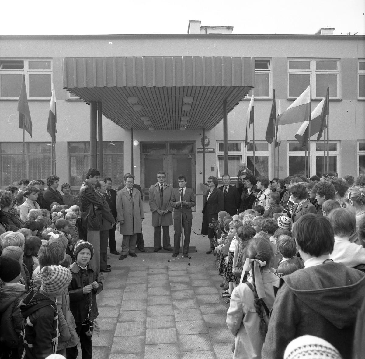 Otwarcie przedszkola nr 4, 1983 r.
