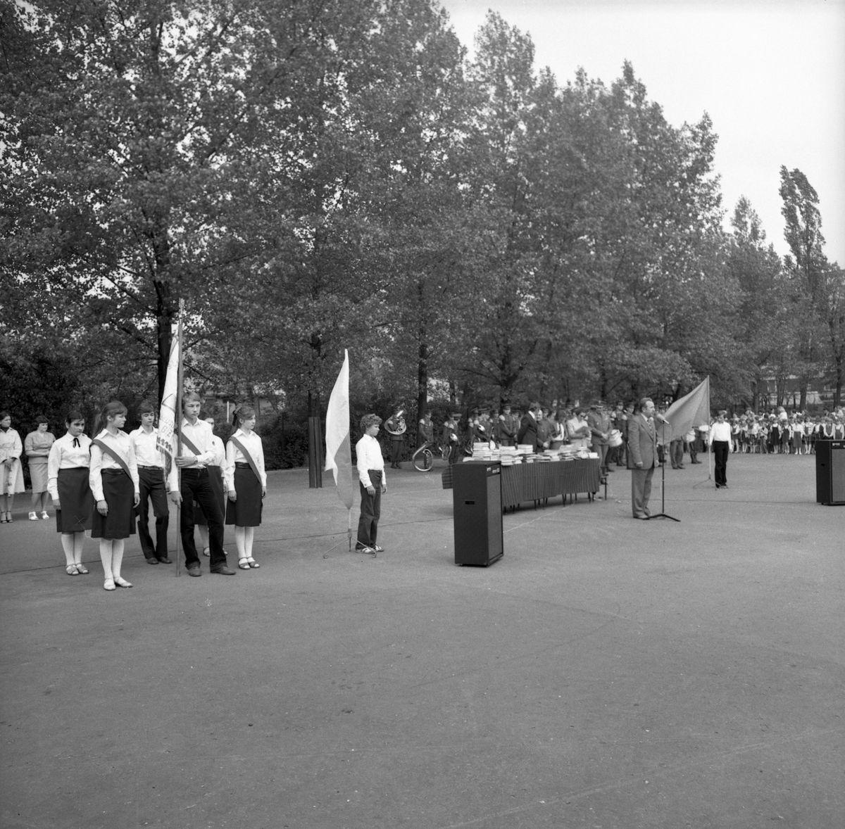 Zakończenie roku szkolnego 1979/1980 w SP1