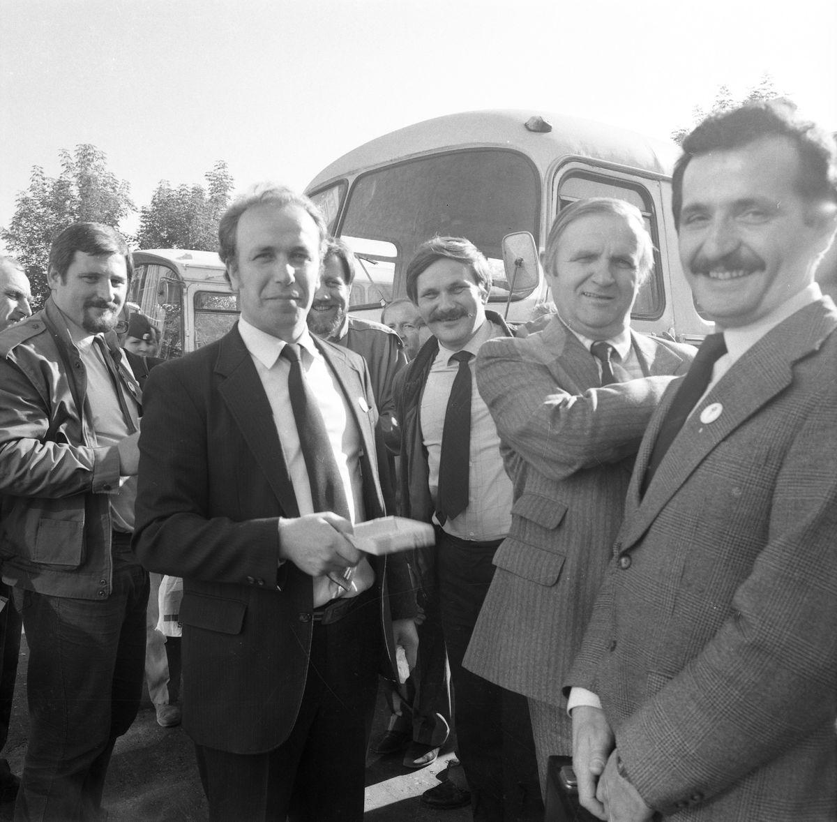 Wizyta delegacji z Giżycka w Trokach, 1987 r. [9]
