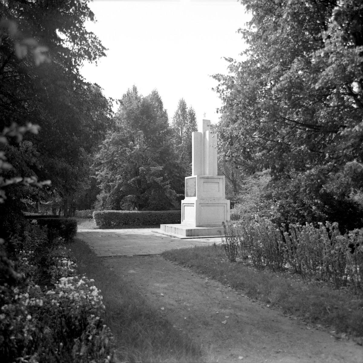 Cmentarz żołnierzy radzieckich, 1965 r.