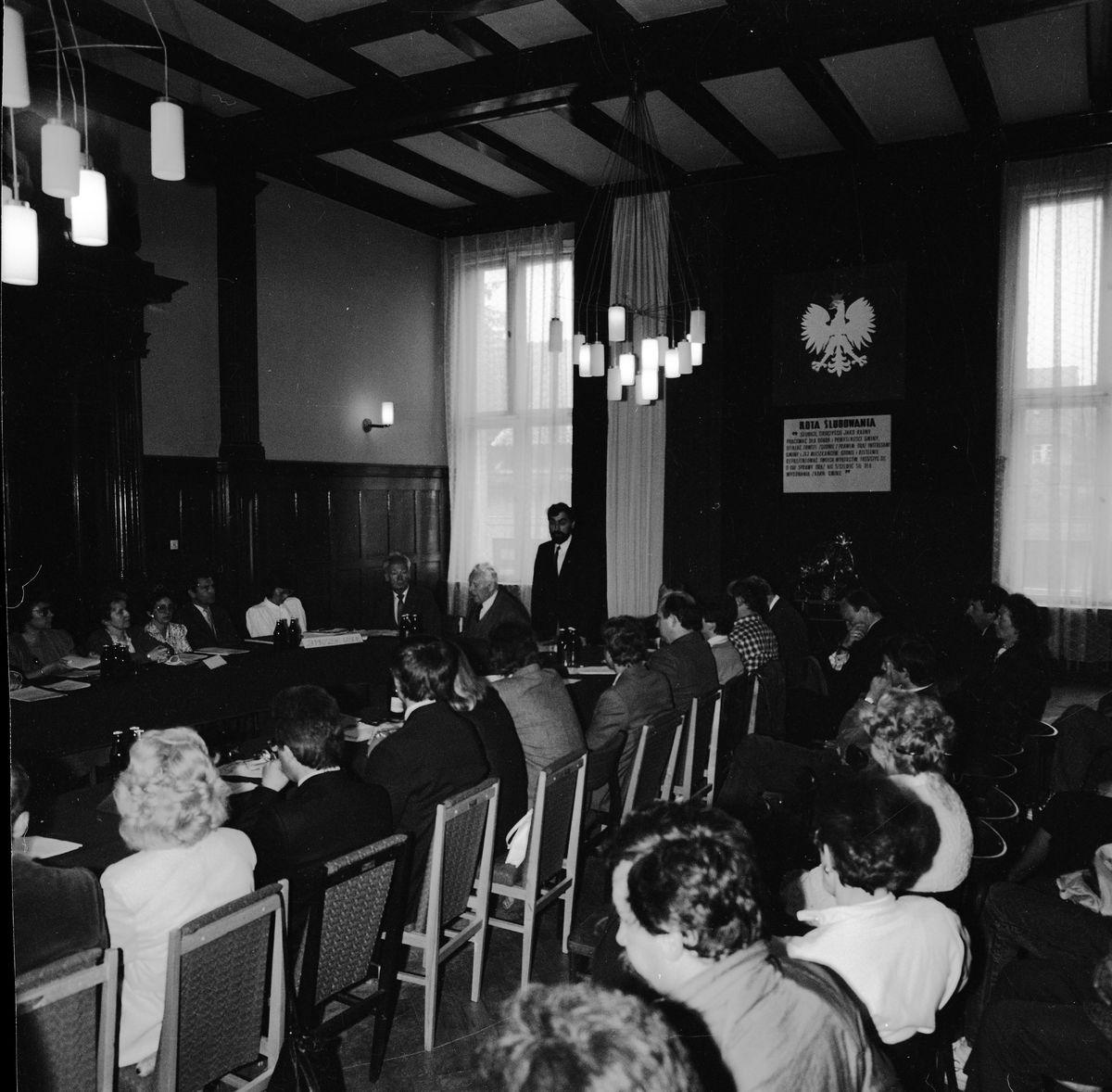 Uroczysta sesja Rady Miejskiej, 1990 r. [5]