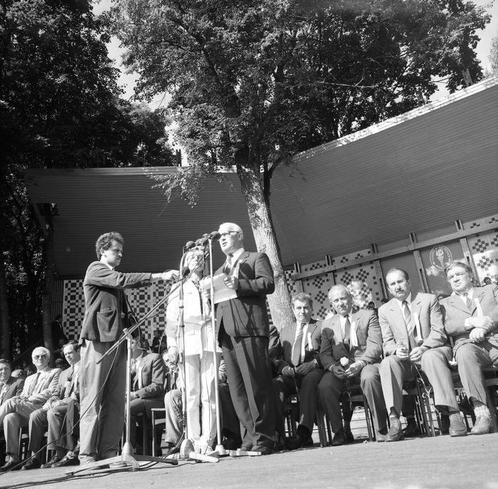 Wizyta delegacji z Giżycka w Trokach, 1987 r. [47]