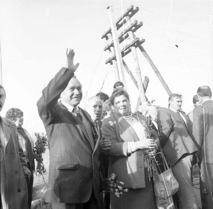 Wizyta delegacji z Giżycka w Trokach, 1987 r. [56]