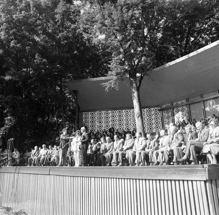 Wizyta delegacji z Giżycka w Trokach, 1987 r. [46]