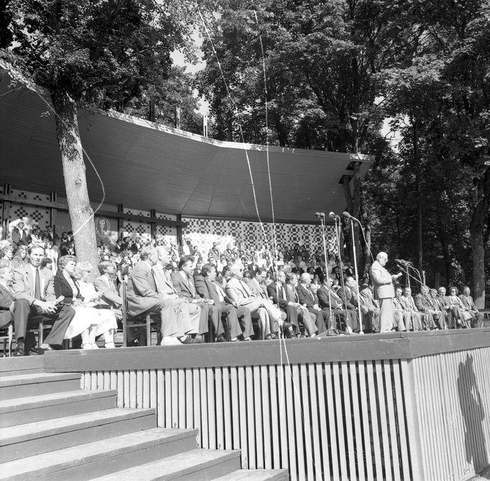 Wizyta delegacji z Giżycka w Trokach, 1987 r. [53]