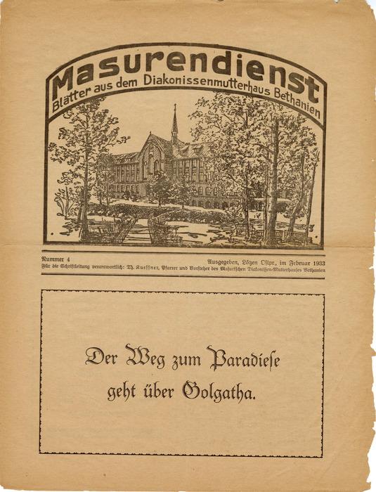Masurendienst - Februar 1933