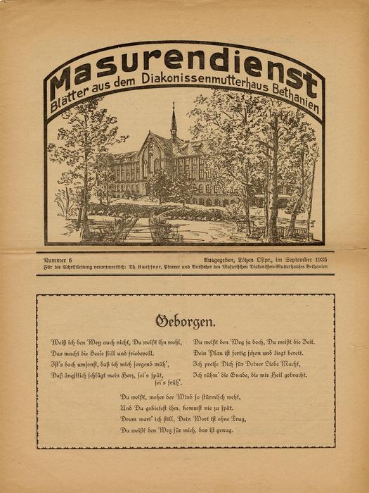 Masurendienst - September 1935